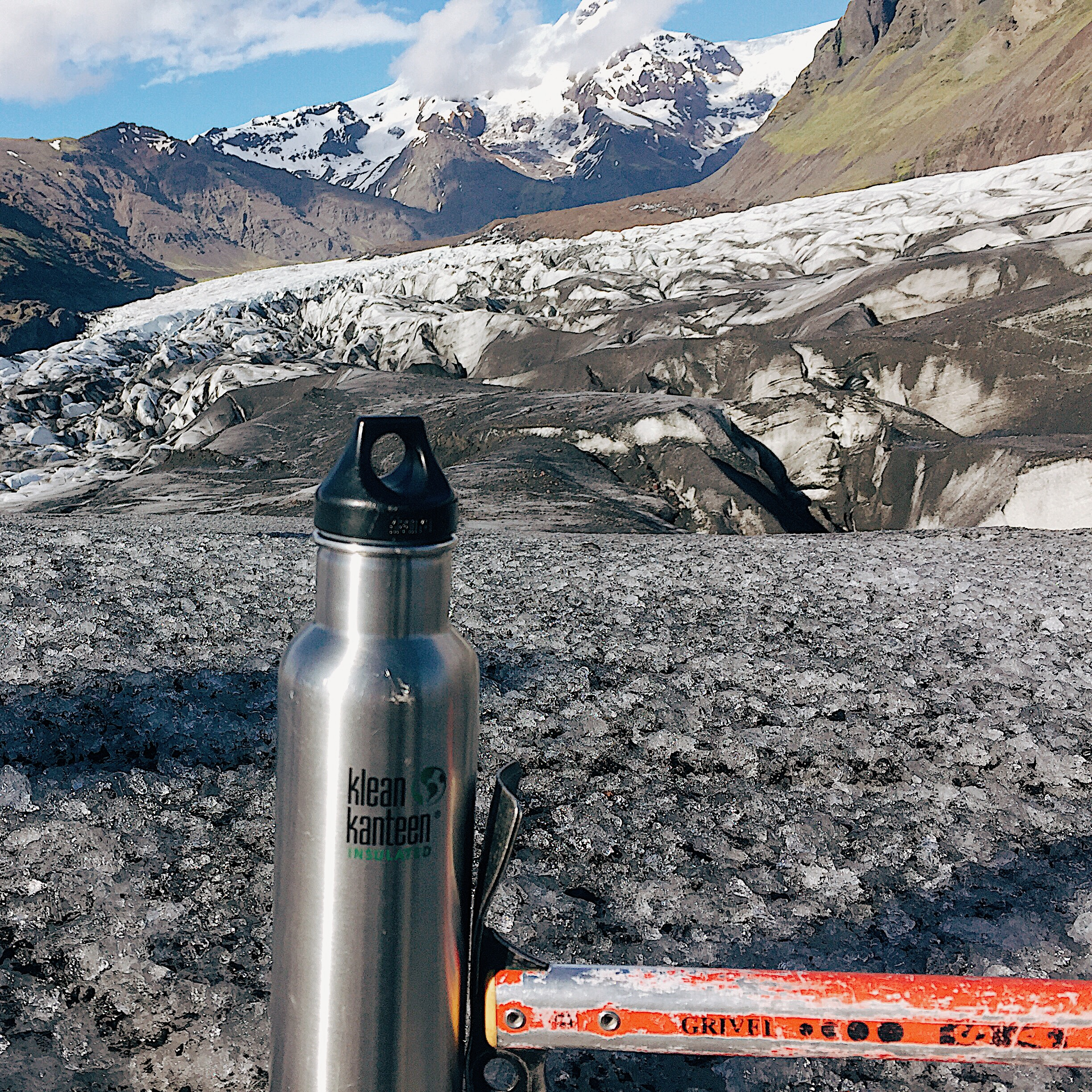 I bring my Klean Kanteen everywhere from hikes on the Inca Trail to ice climbing on Icelandic glaciers.
