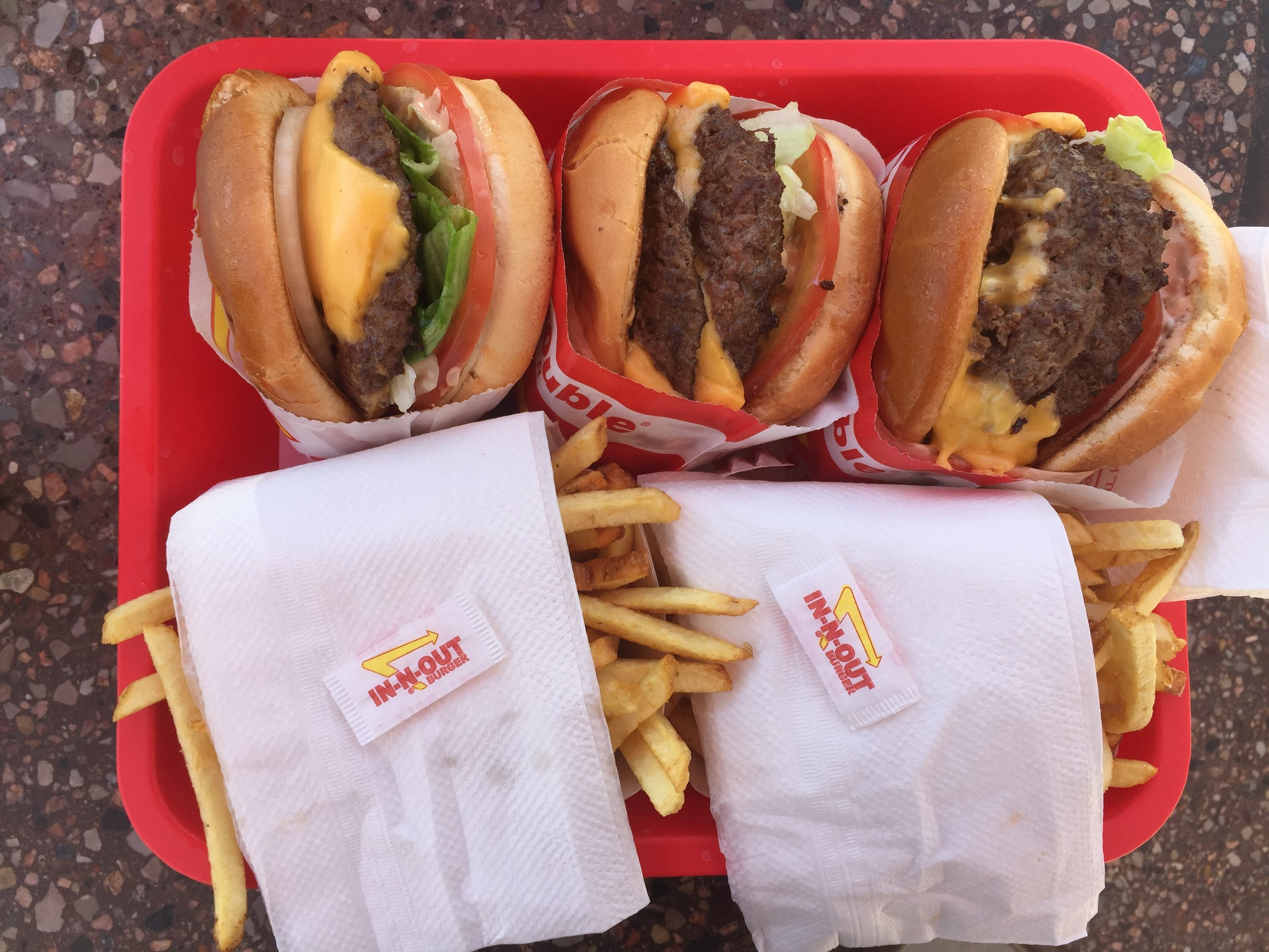 When in in the west, gotta get In-n-Out.