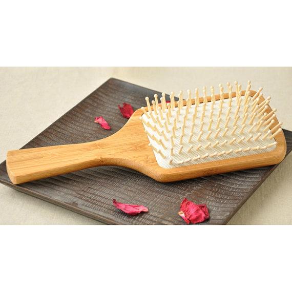 Found on Etsy:Natural Bamboo Large Paddle Massage Hair Brush