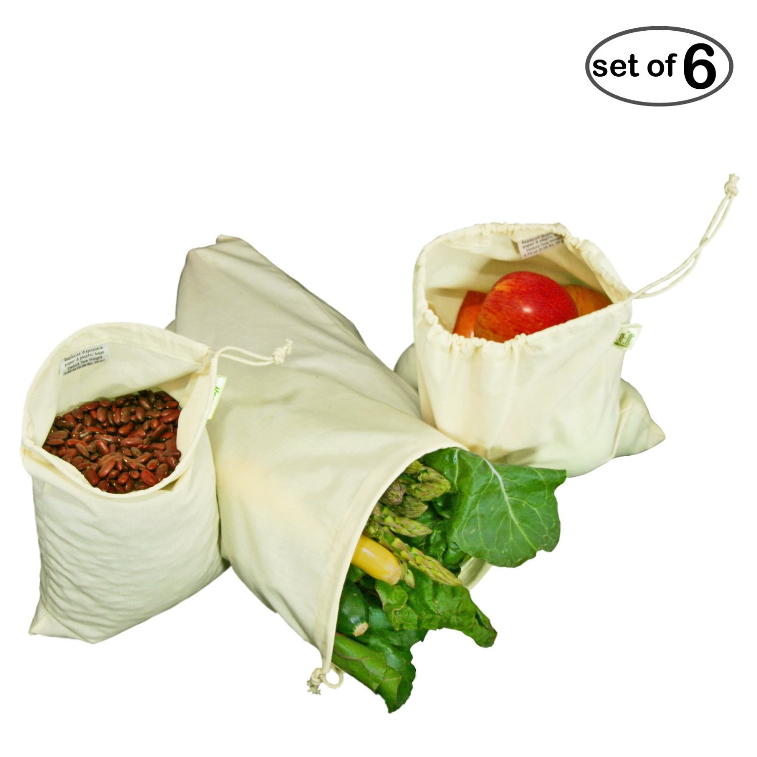 Great way to avoid the single-use product bags. Awesome for produce AND bulk finds.