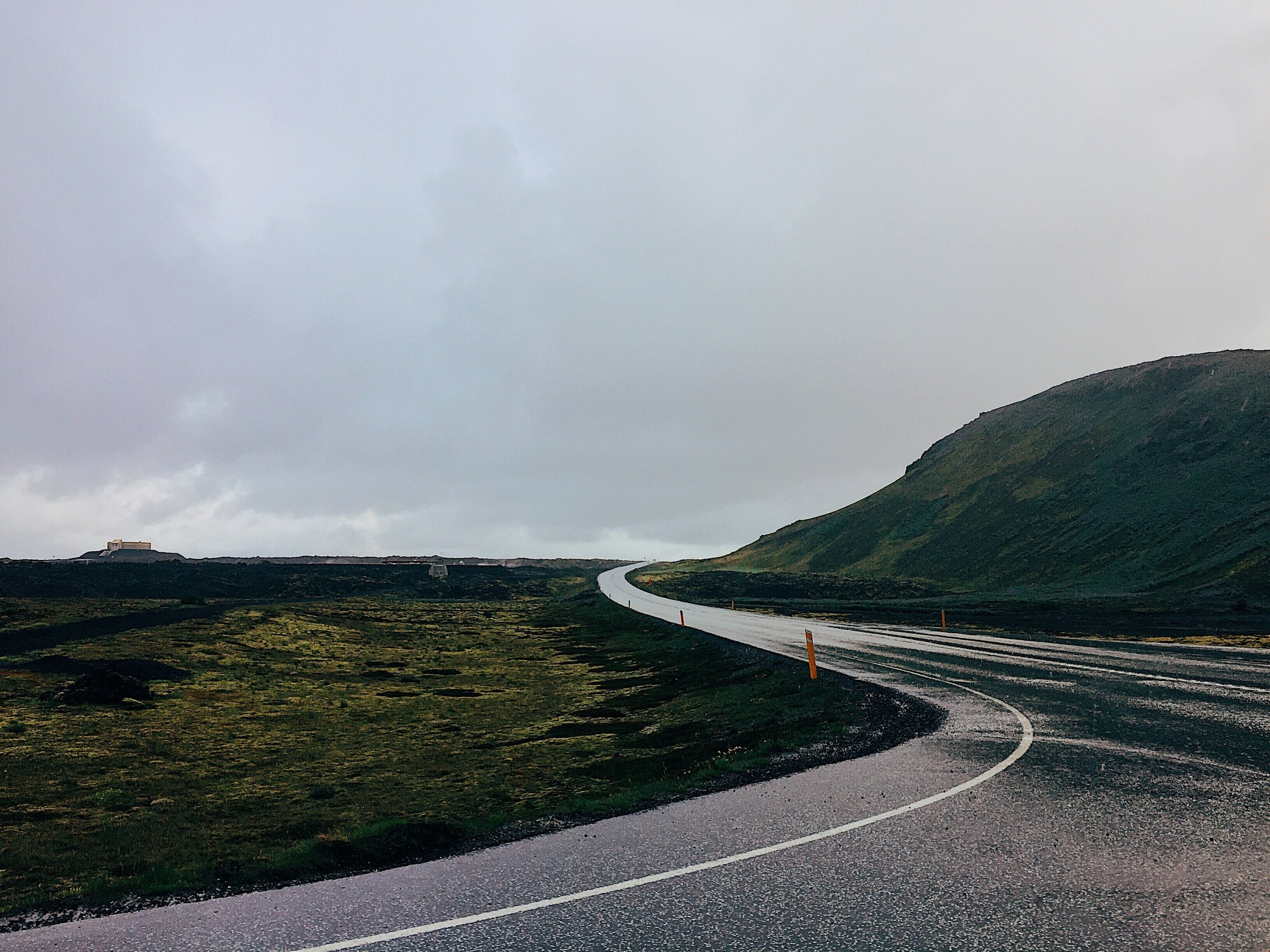 Winding roads of Iceland. This picture was taken a few minutes after the one above. The weather changes quickly so enjoy the moment.
