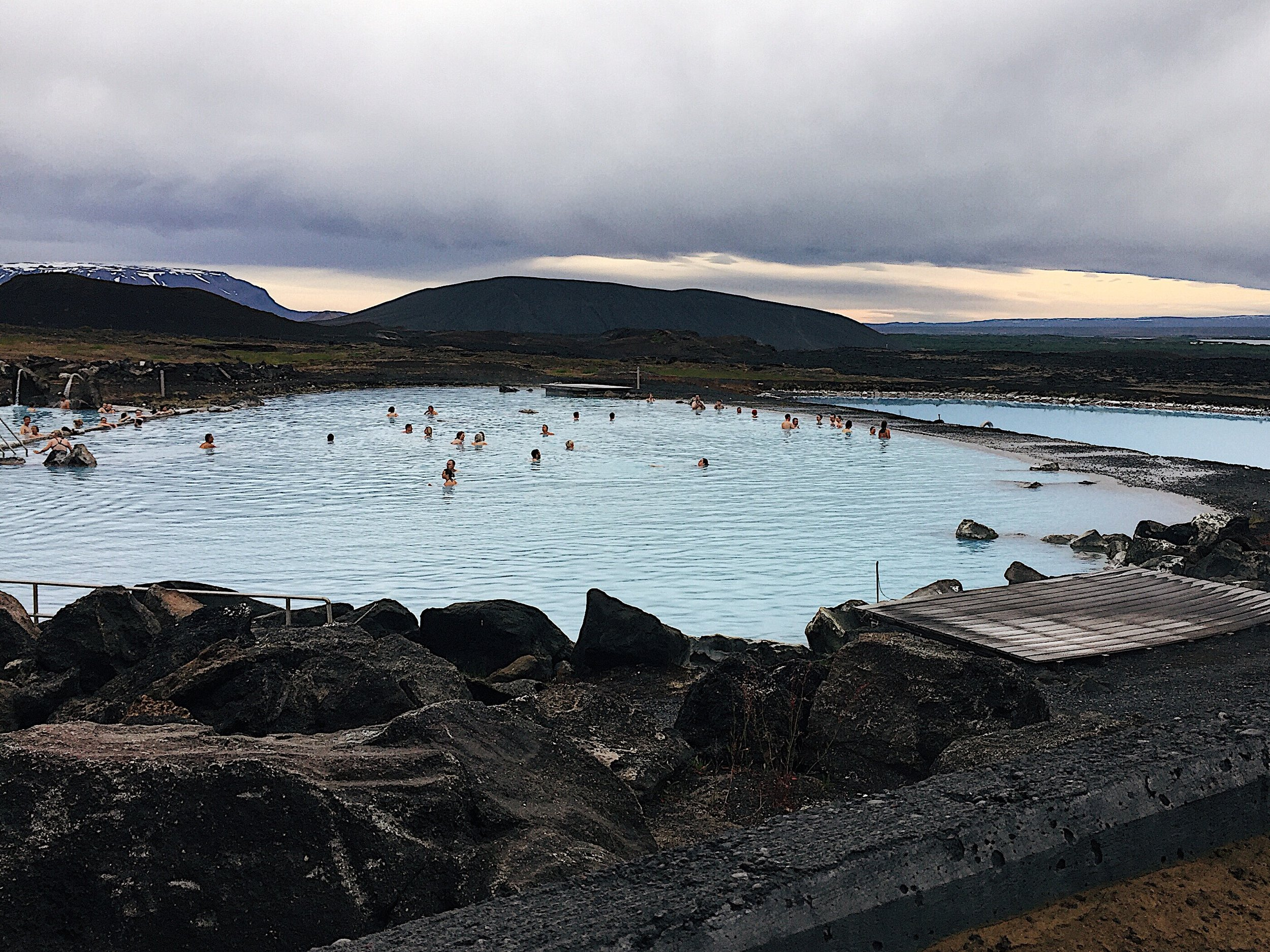 The Myvatn Nature Baths which is the Blue Lagoon of Northern Iceland. Beautiful, but lots of flies in the area though.