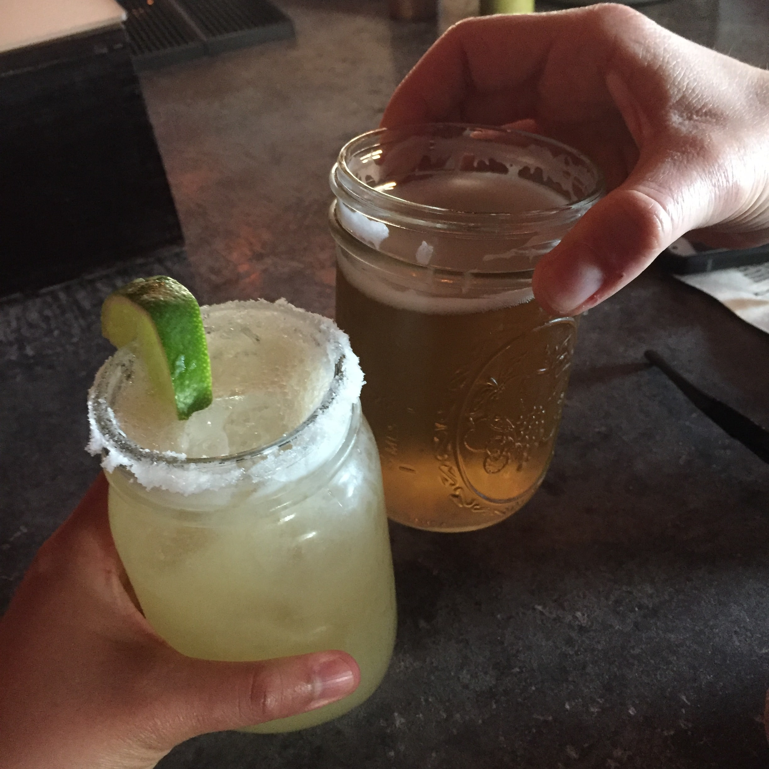 Cheers to straw-less margaritas at Charlotte Bakersfield Tacos.