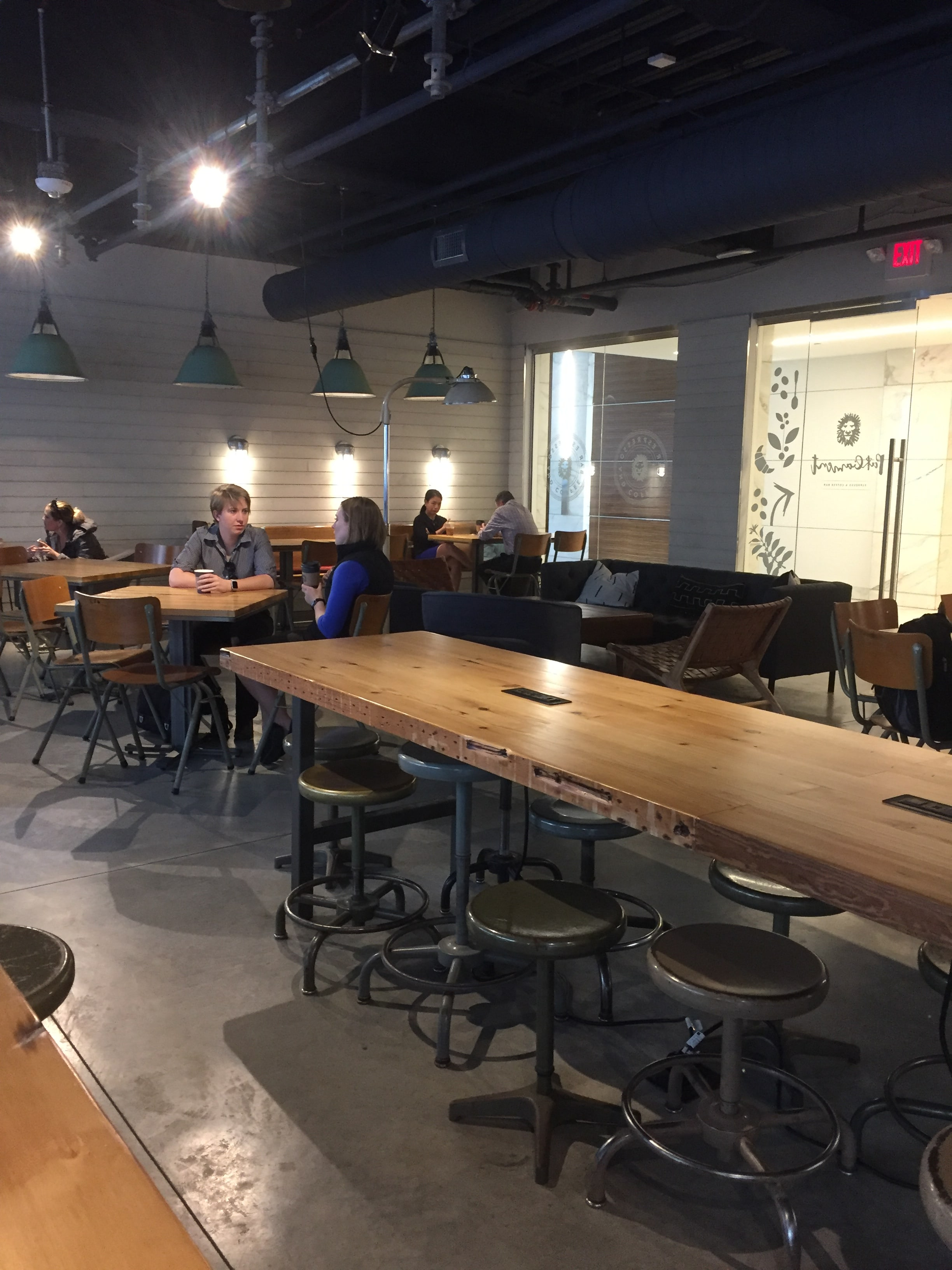 Charlotte Parliament Espresso and Coffee Bar. Lots of space and plugs to work with.