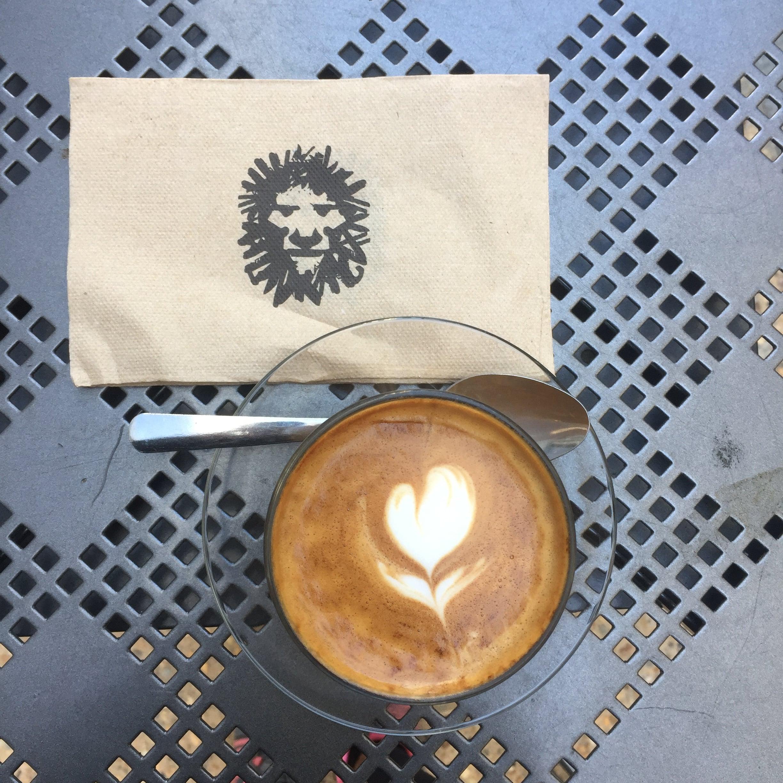 Charlotte Parliament Coffee in a stay mug. Yay!
