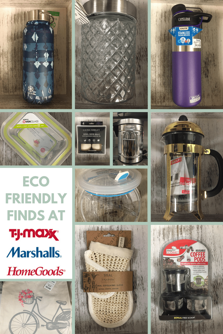 Eco-friendly finds at TJMaxx, Marshalls and HomeGoods.