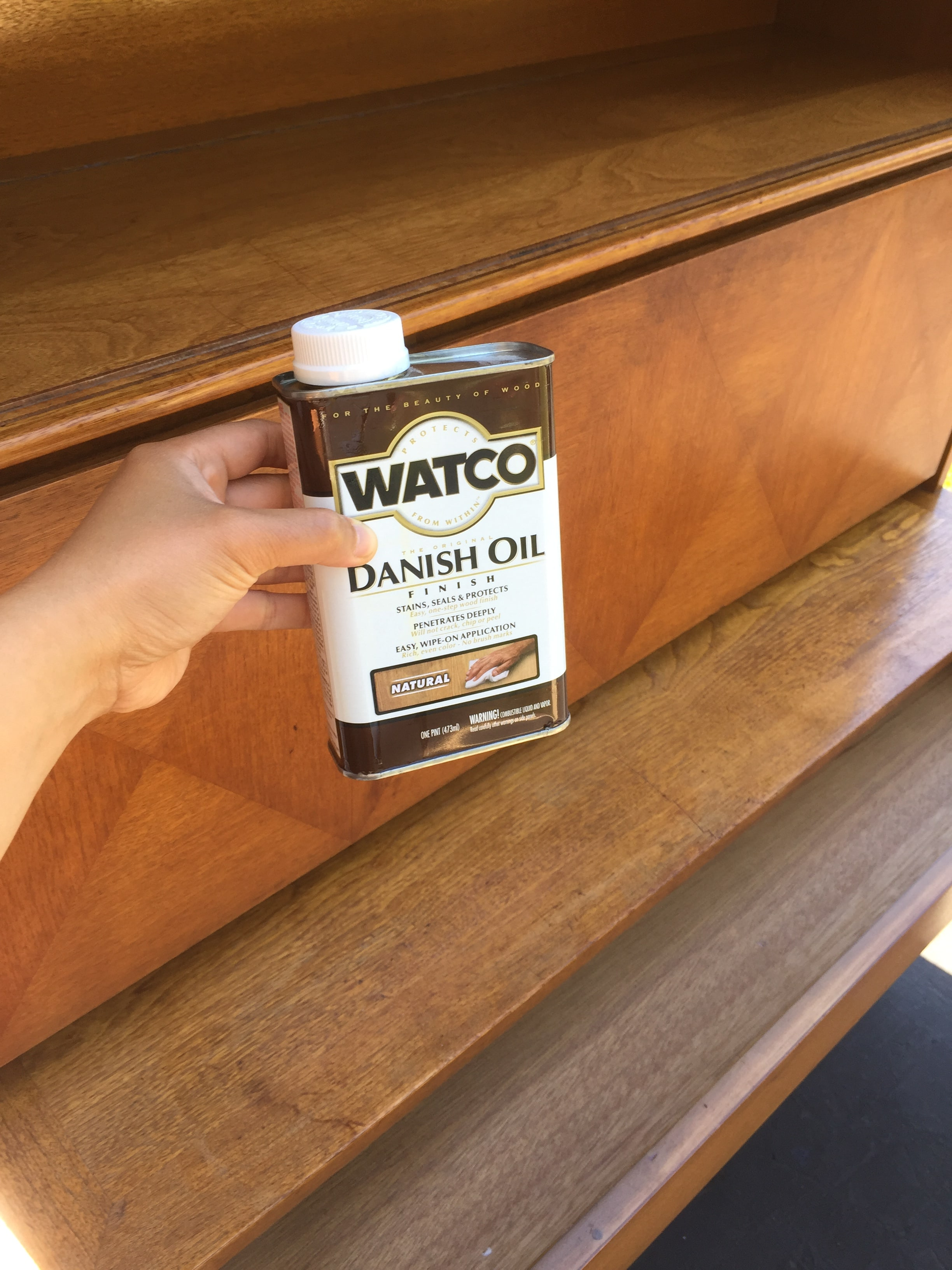 Recovering some old furniture with Danish oil.