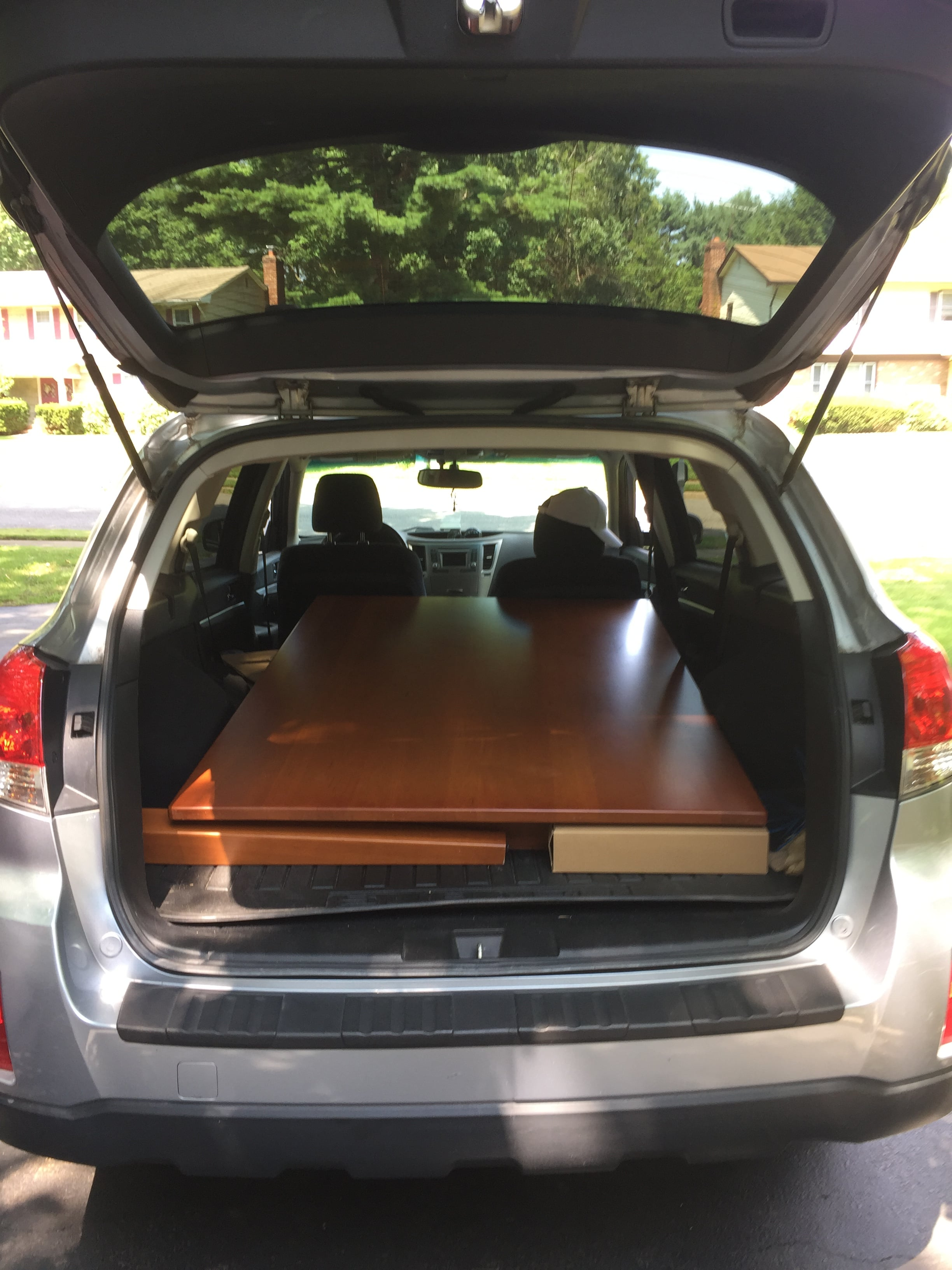 Wohoo! When the secondhand table you purchased on eBay fits perfectly in your car.