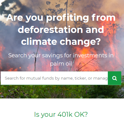 #zerowaste #palmfree but are you profiting from deforestation and climate change?
