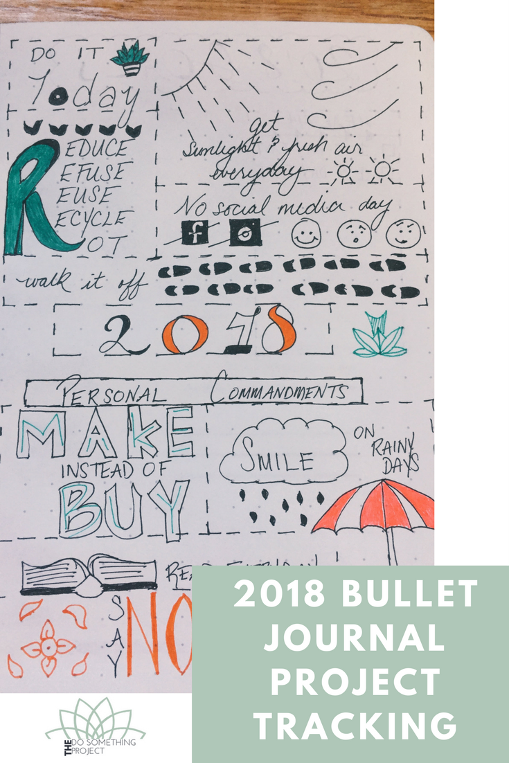 Bullet Journal Project Tracking