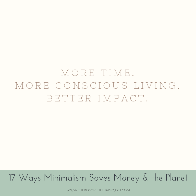 More time. More conscious living. Better impact.