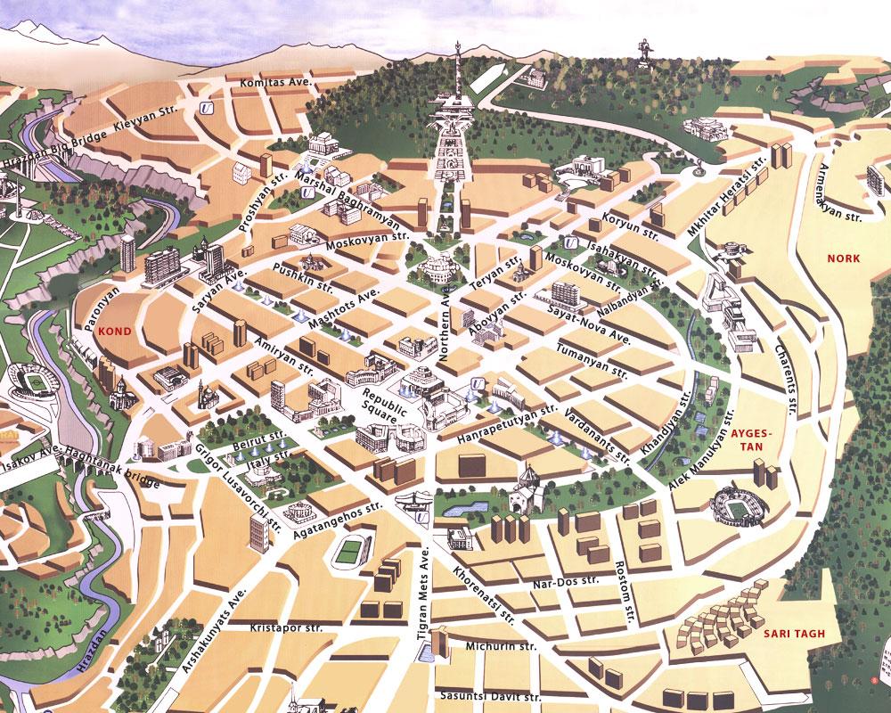 Карта еревана с картинками