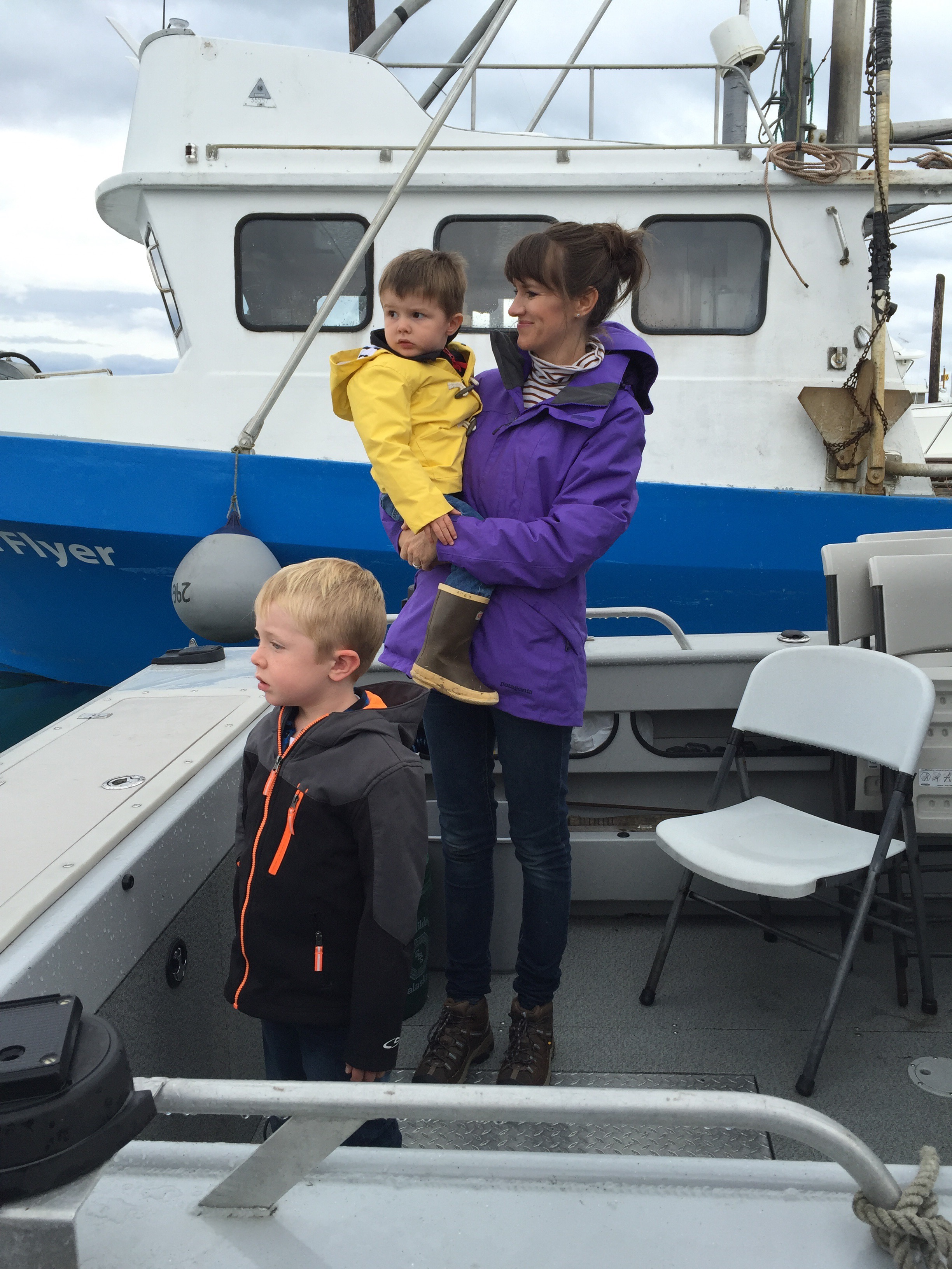 Checking out Grandpa's boat.