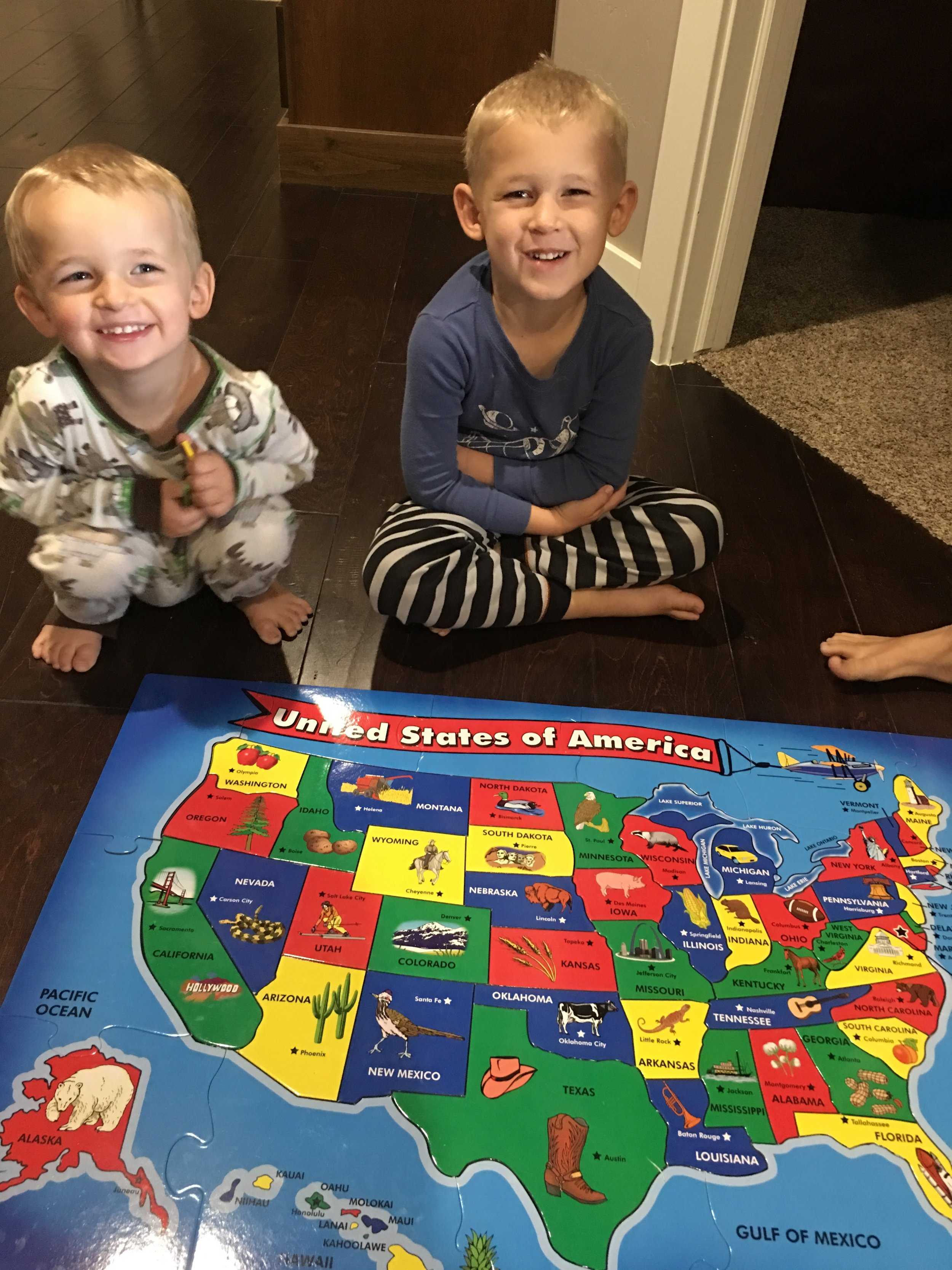 Keeping the littles busy (and learning) with a puzzle.