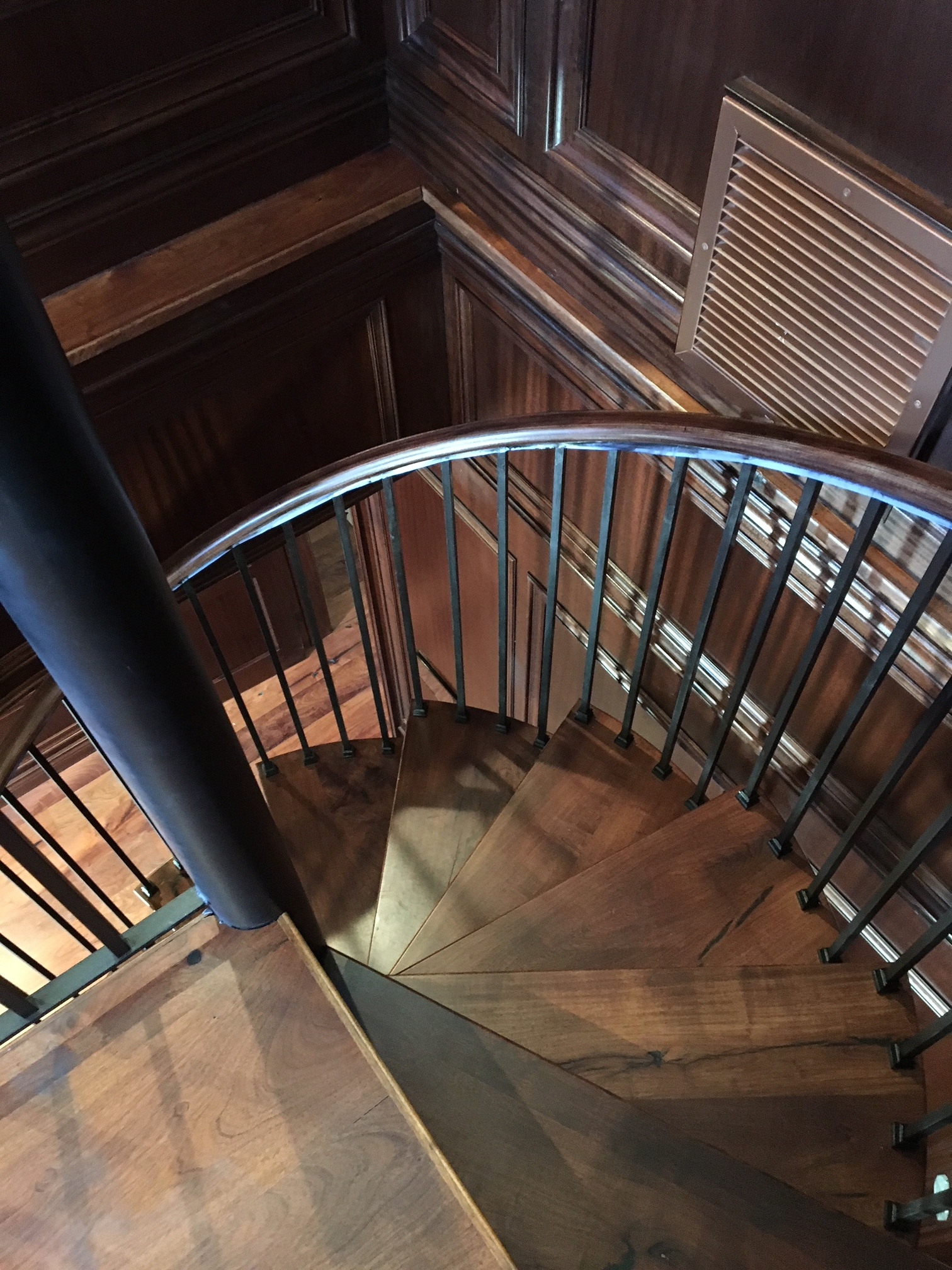 Mesquite Spiral Stairs located in Dripping Springs