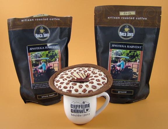 Thinsulate insulated Coffee Beans Kup Kap on small mug.