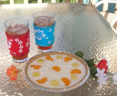 Thinsulate insulated Hawaiian Kup Kollars on 16 oounce iced tea glasses