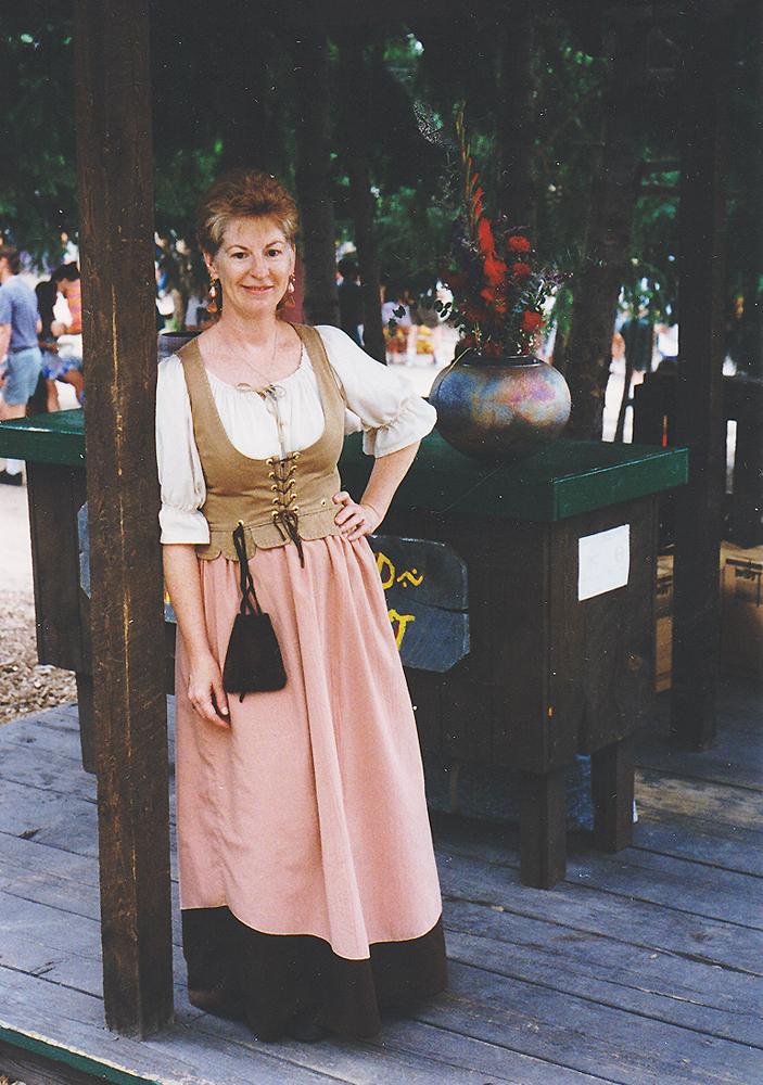Irene 1995 July in Raku booth_100