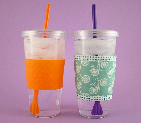 Thinsulate insulated Bicycles Kup Kollar on 16 ounce tumbler.