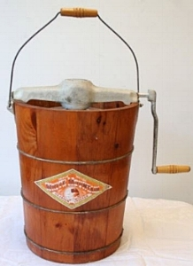 White Mountain hand-cranked ice cream churn, similar to those used by my grandfather and great-grandfather.