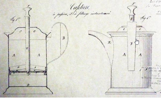 First French press design. Mayer and Delforge 1852. perfectdailygrind.com