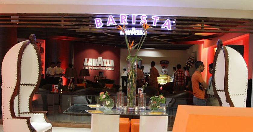 Barista's latest shop in Karachi, Pakistan
