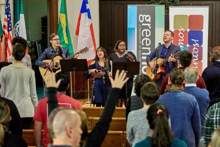 The Greenhouse missionary training week began with a time of multilingual and multicultural worship