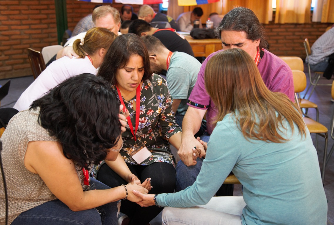 Each session was marked by times of intercession and prayer