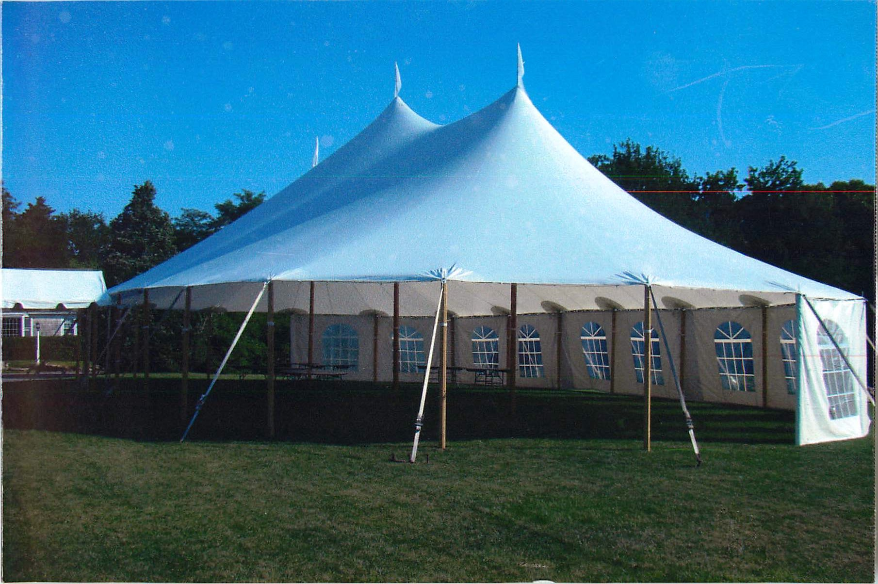 Tenting for a party with more than 80 guests .