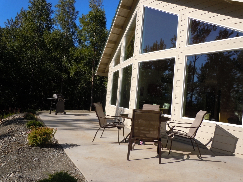 Enjoy the view of the Alaskan Wilderness from your front deck