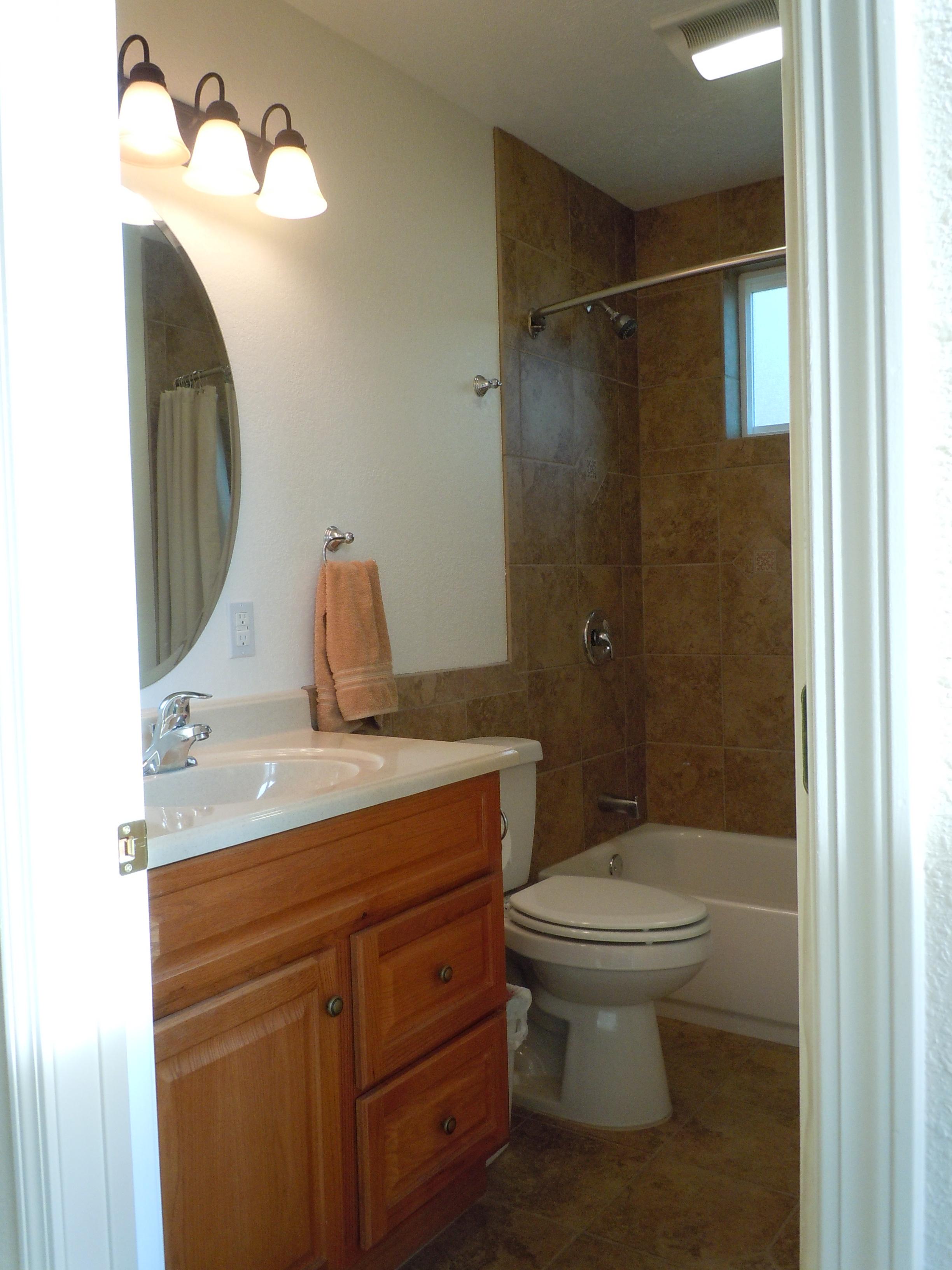 Full bath with custom tile bath/shower