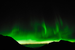 Aurora (Northern Lights) over Hatcher Pass.
