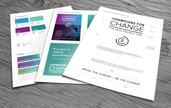 style guide for 2016 Champions for Change theme (an internal document)