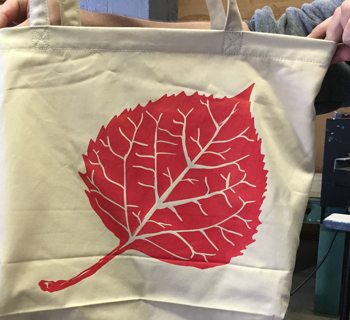 Reverse side of tote bag, hot off the press!