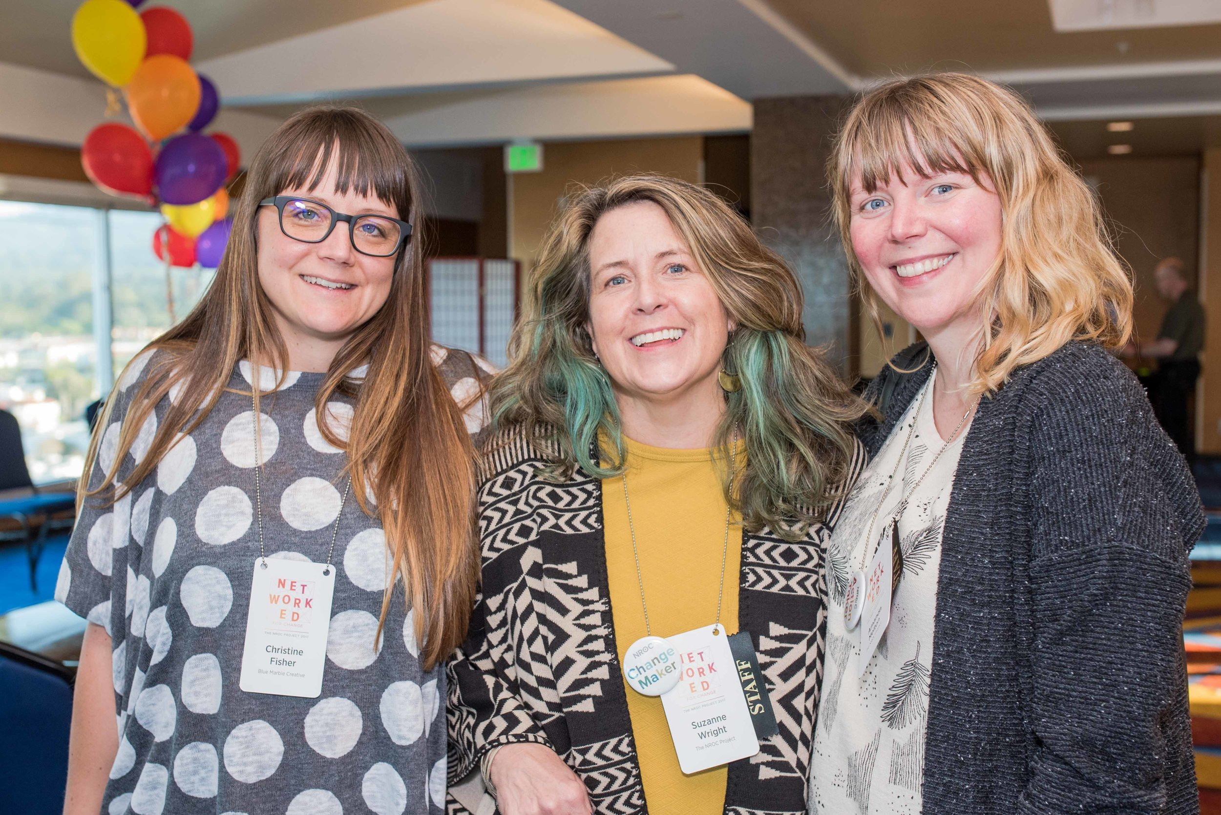 Blue Marble Creative Director, Christine Fisher and NROC Marketing Directors, Suzanne Wright Baumhaukl and Amanda Caple Melton