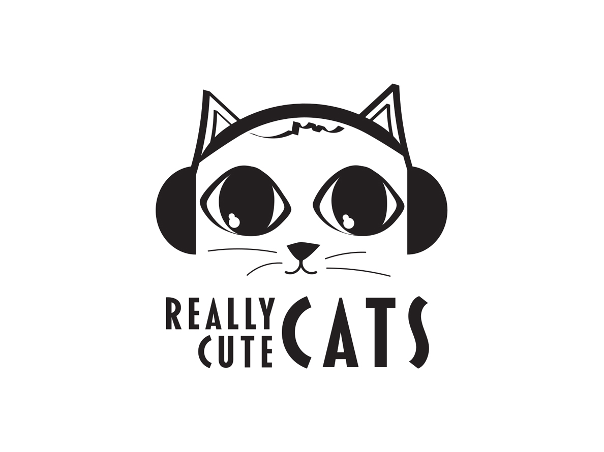 Logo Design for a blog that integrates new music and what else? Really Cute Cats