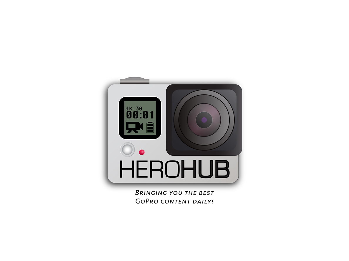 A logo concept for a personal GoPro hobby blog.