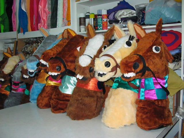 Characterised Horse Head Costumes