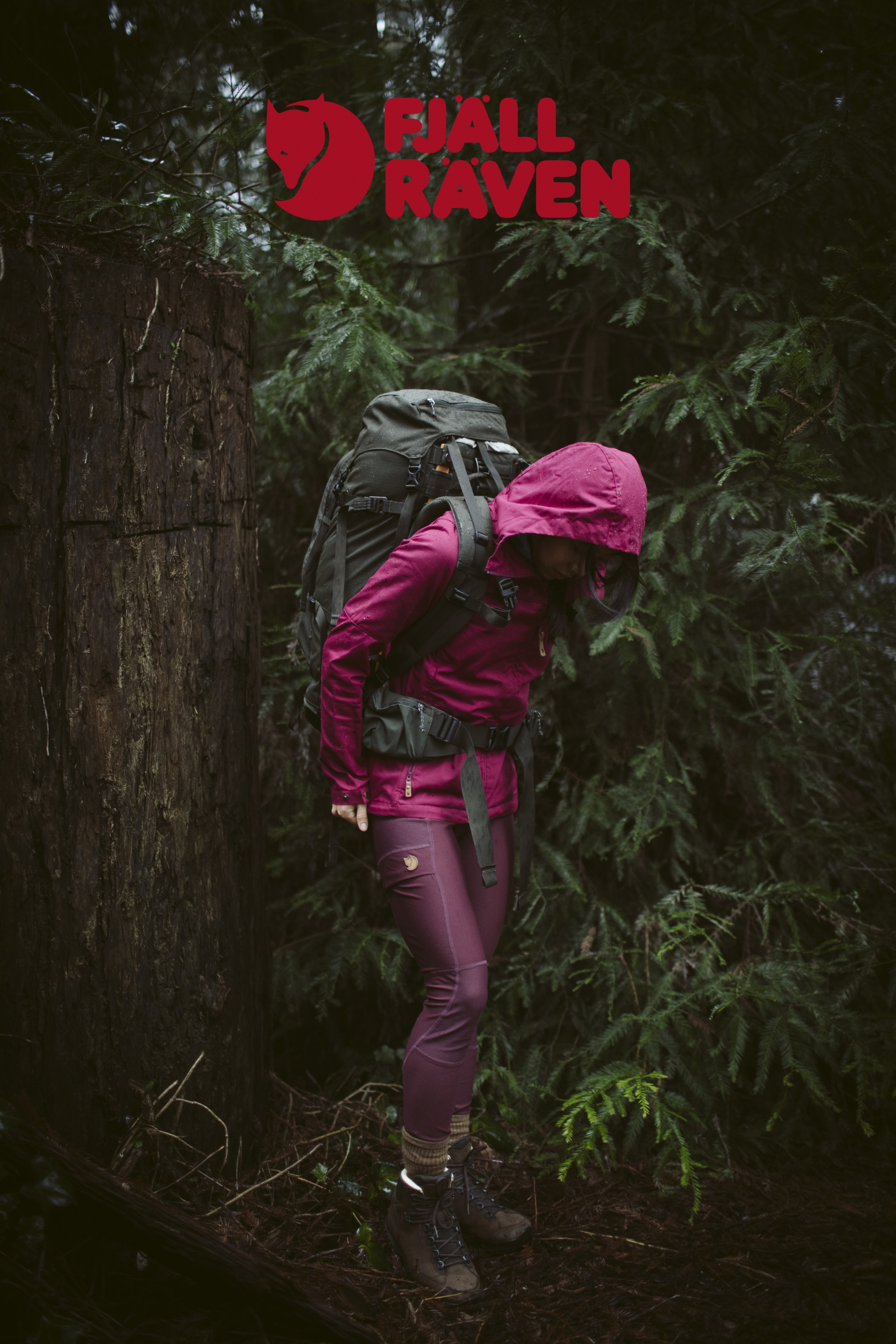 FJALLRAVEN // REDWOODS // PHOTO ALI VAGNINI // PRODUCTION TROY BUSH // ART CASEY LORENZEN // PRODUCTION + WARDROBE + PROPS+ HMU + TALENT