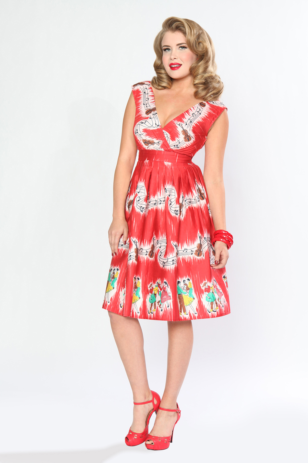 "BD090636  Sugar Beat Dress in ""Barnyard Boogie"" Print"