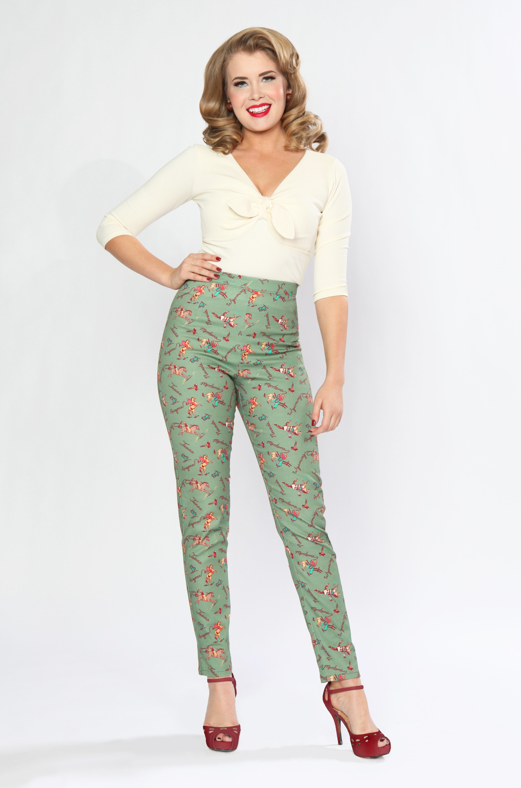 BD173637 Twist & Shout Top (Ivory)  BD174639 Cigarette Pant (Ranch Roundup)