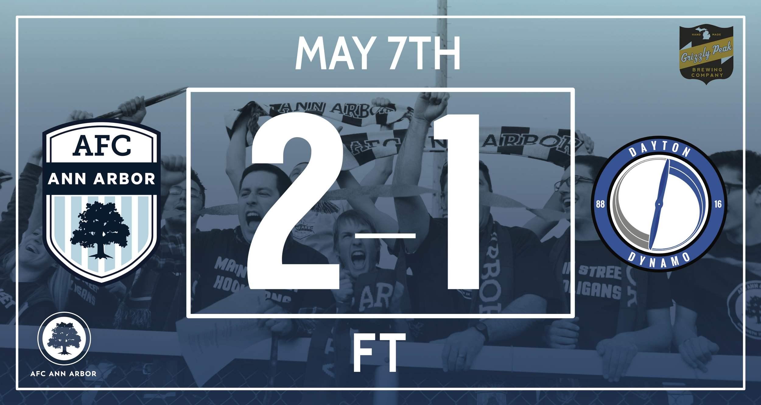 Match Recap  // Eckenrode 64'; Farkas 79' // Audi Ann Arbor Man of the Match: Yuri Farkas