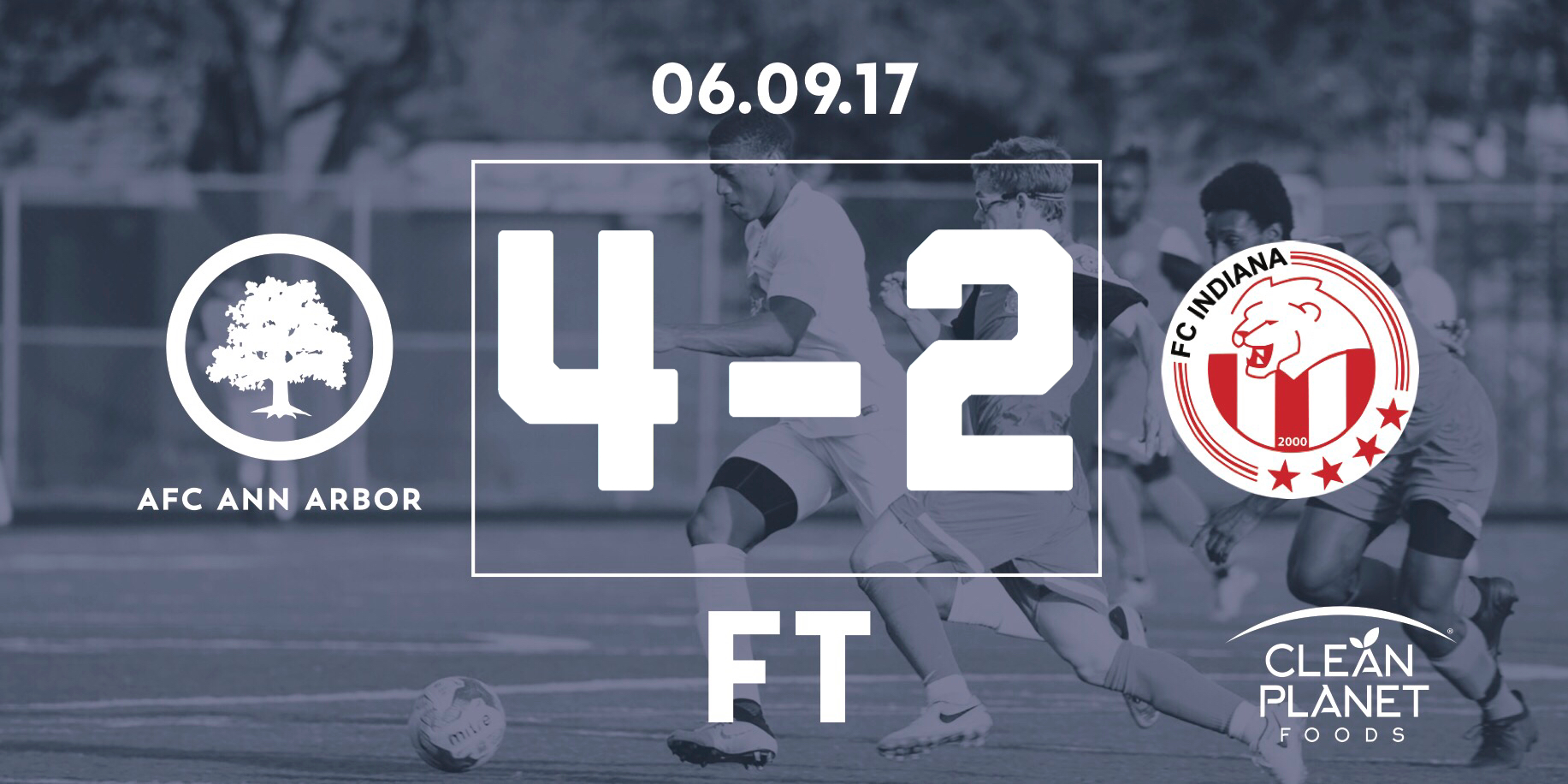 27' Jackson, 35', 41 Muskwe, 43' Breitmeyer // Audi Ann Arbor Man of the Match: Jesse Muskwe //  Match Recap