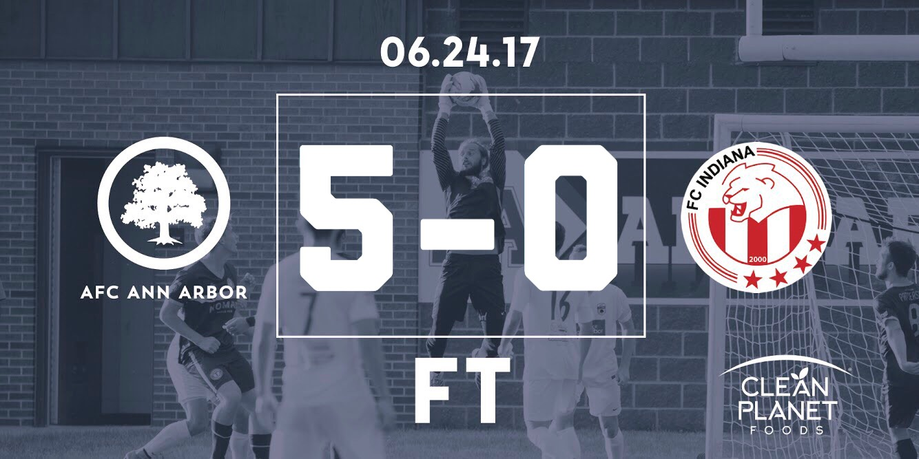 12' Muskwe, 27' Brietmeyer, 49' Lasinski, 51' Farkas, 65' Cisse // Audi Ann Arbor Man of the Match: Yuri Farkas //  Match Recap
