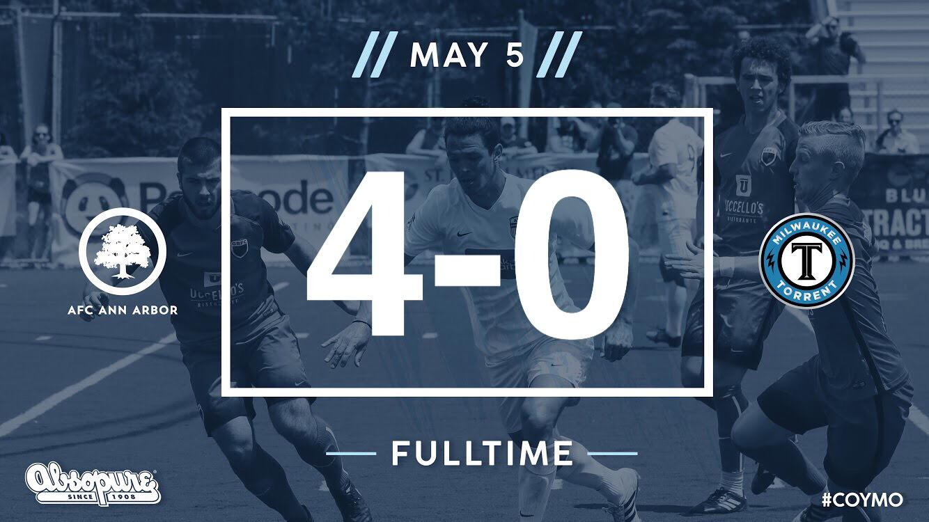 55' Farkas, 74'Ybarra, 85'Breitmeyer, 90' + Freitas - Audi Ann Arbor Man of the Match: Yuri Farkas   Match Recap //  Official NPSL Game Report //  Watch Highlights