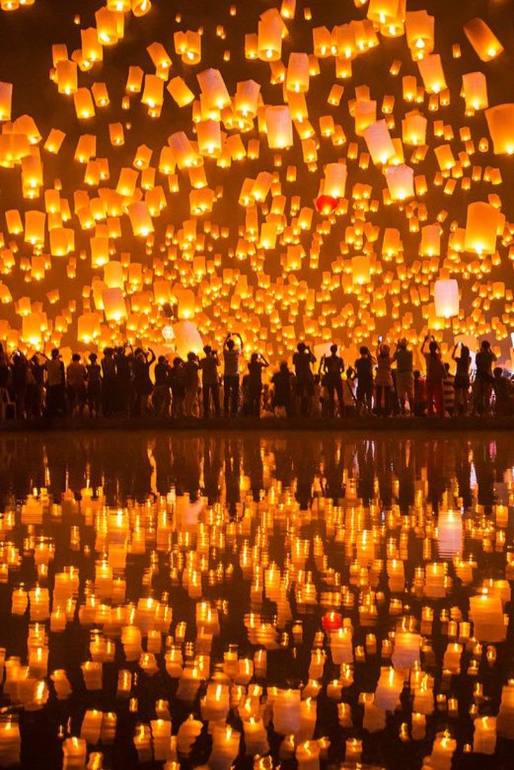 Festival of Lights. Chiang Mai, Thailand.