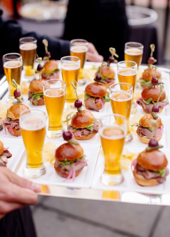 We all love a slider, but we REALLY love a slider with a mini pint of beer!