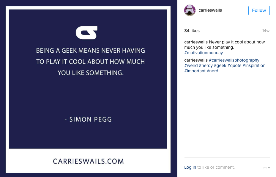 Follow Carrie Swails on Instagram here