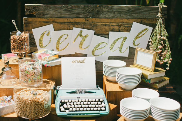 See how this couple pulled off their cereal bar