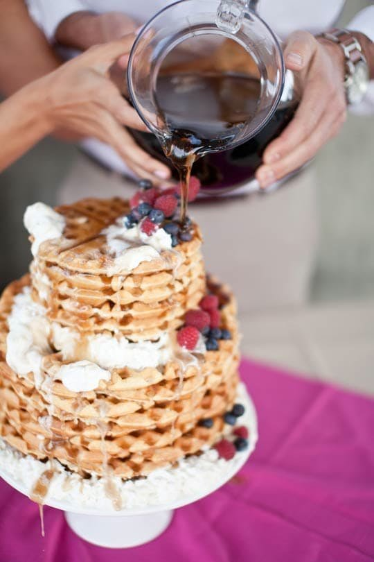 Just one recipe of many out there for decadent waffle cakes